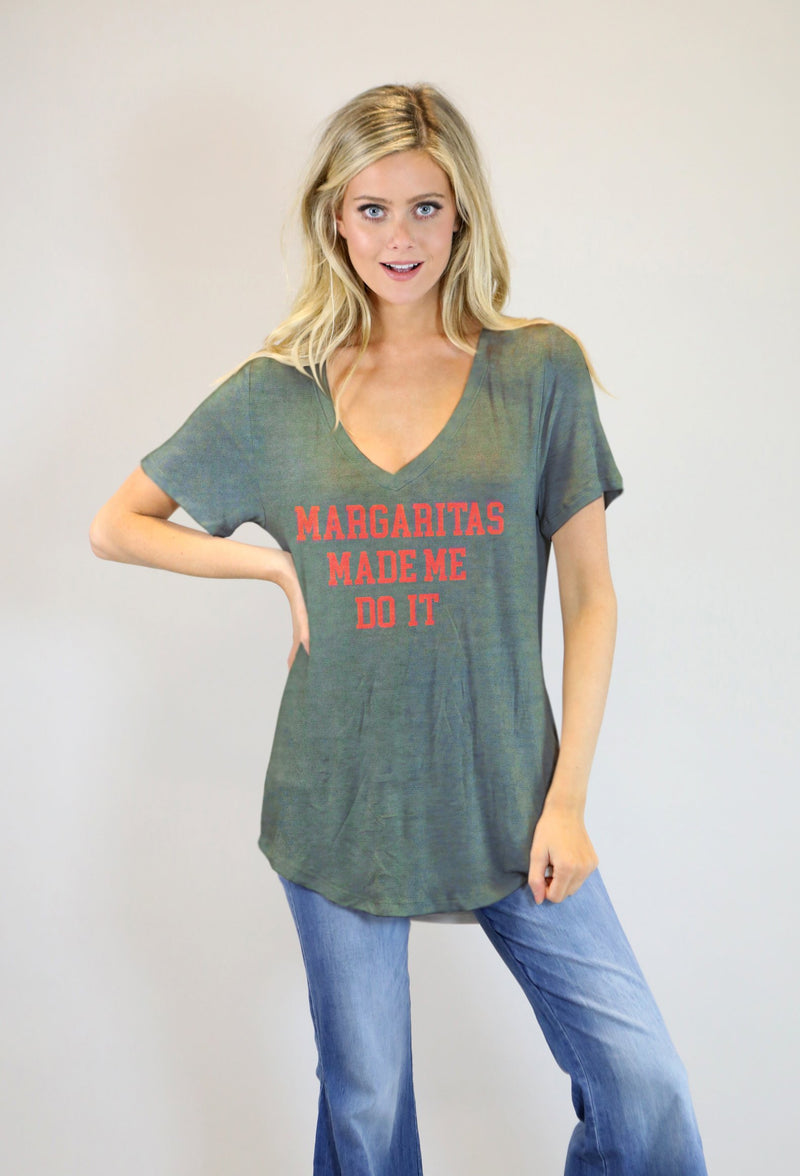 JUDITH MARCH MARGARITAS MADE ME DO IT TEE