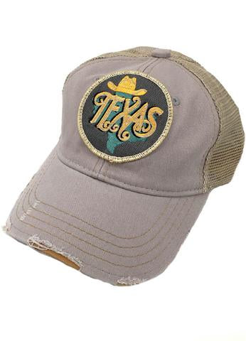 JUDITH MARCH METALLIC TEXAS PATCH - GREY HAT