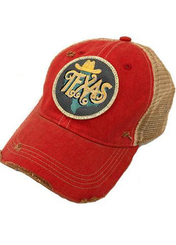 JUDITH MARCH METALLIC TEXAS PATCH - RED HAT