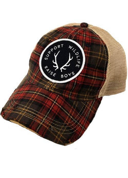 Support Wildlife Raise Boys- Plaid