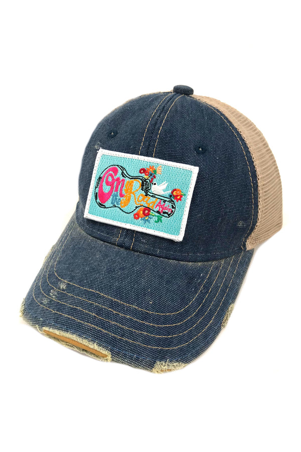 JUDITH MARCH ON THE ROAD AGAIN PATCH - BLUE HAT