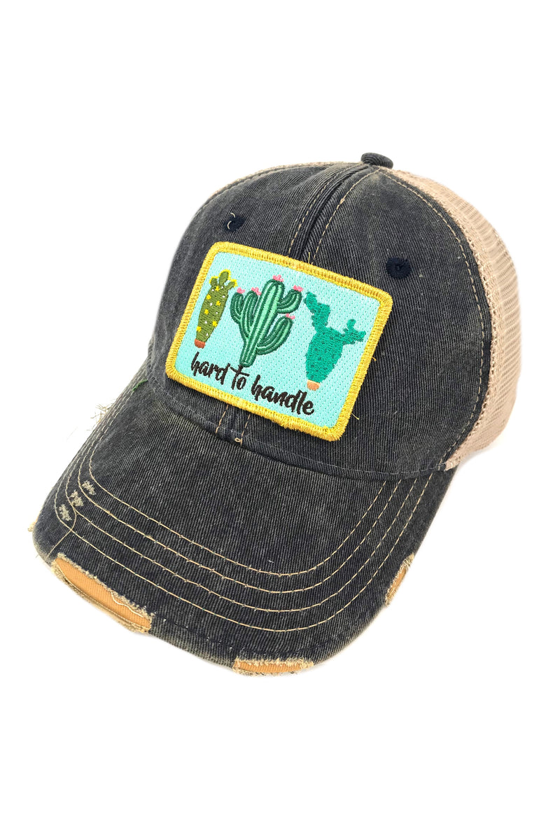 JUDITH MARCH HARD TO HANDLE PATCH - NAVY HAT