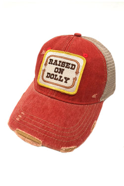 JUDITH MARCH RAISED ON DOLLY PATCH - RED HAT
