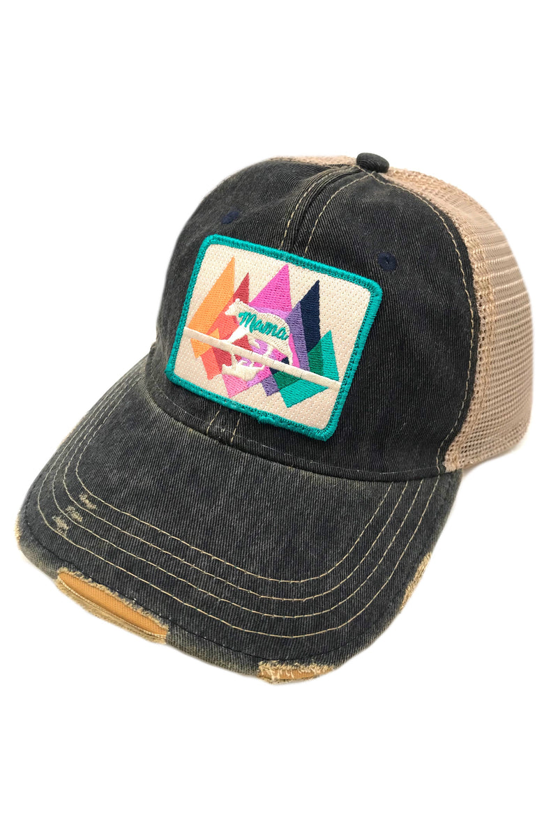 JUDITH MARCH MAMA BEAR PATCH - NAVY HAT