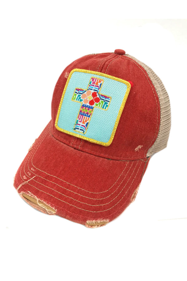 JUDITH MARCH PATCHWORK CROSS PATCH - RED HAT