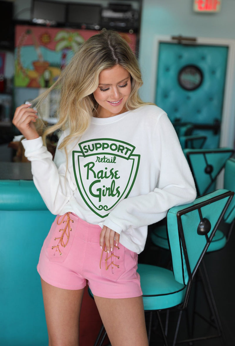 Support Retail Raise Girls Pullover