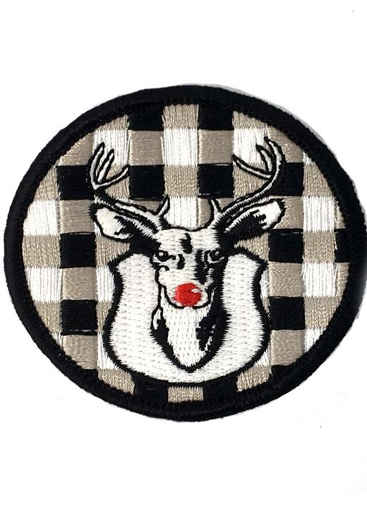 JUDITH MARCH RED NOSE RUDOLPH PATCH - RED HAT