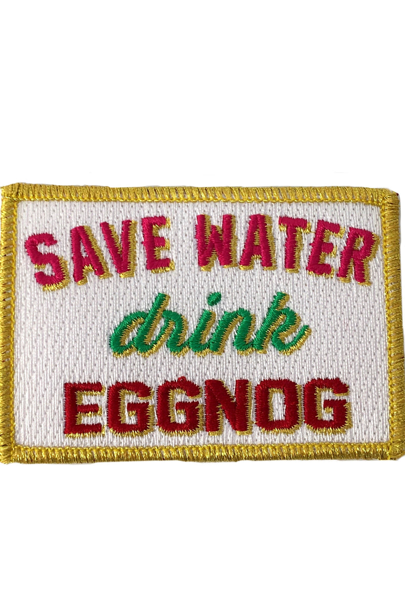 JUDITH MARCH SAVE WATER DRINK EGGNOG PATCH - GREEN HAT