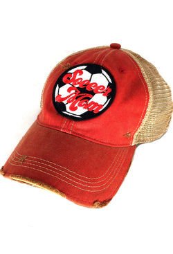 JUDITH MARCH SOCCER MOM HAT - RED