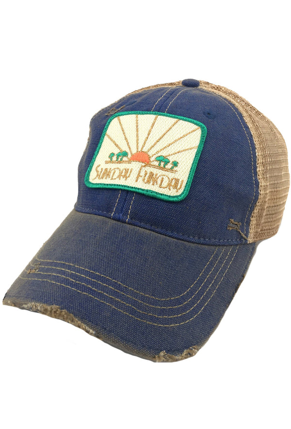 SUNSET SUNDAY FUNDAY PATCH - BLUE