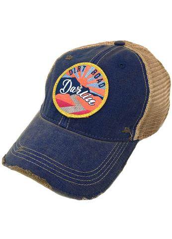JUDITH MARCH SUNSET DIRT ROAD DARLIN PATCH - BLUE HAT