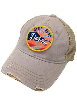JUDITH MARCH SUNSET DIRT ROAD DARLIN PATCH - GREY HAT