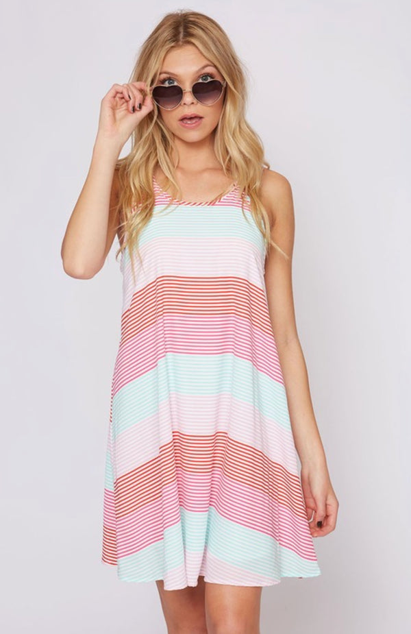 Stipe Summertime Dress / Fruity Stripe Shift Dress