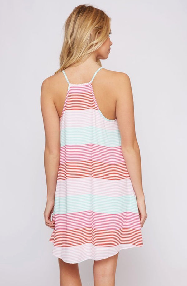 Stripe Summertime Dress / Fruity Stripe