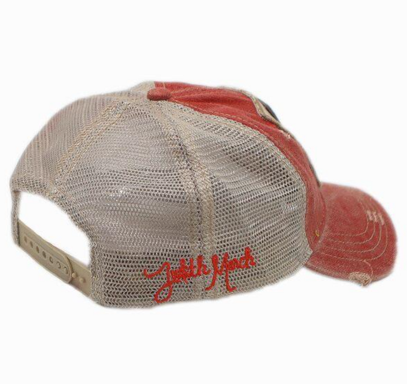 Judith March Raised on Dolly Hat - Red