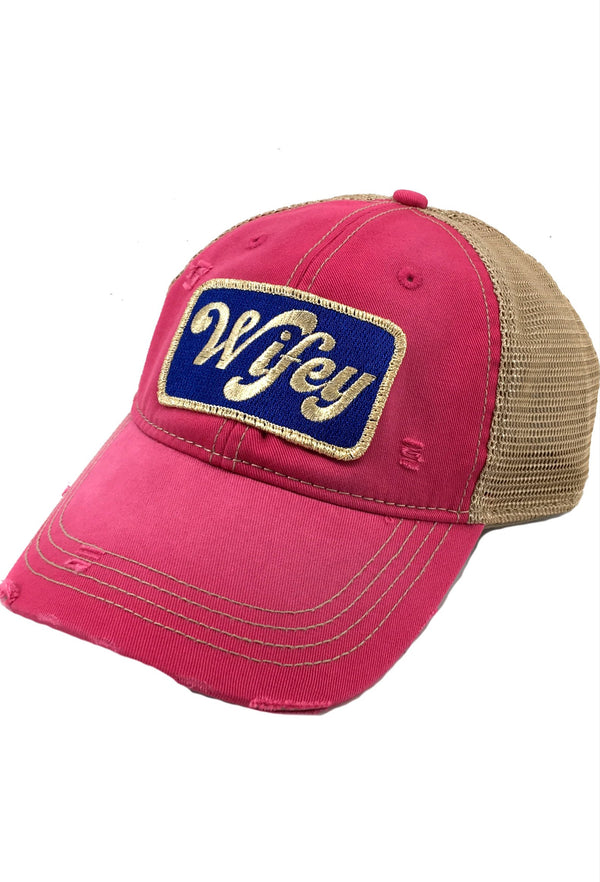 Judith March Metallic Wifey Patch - Fuchsia