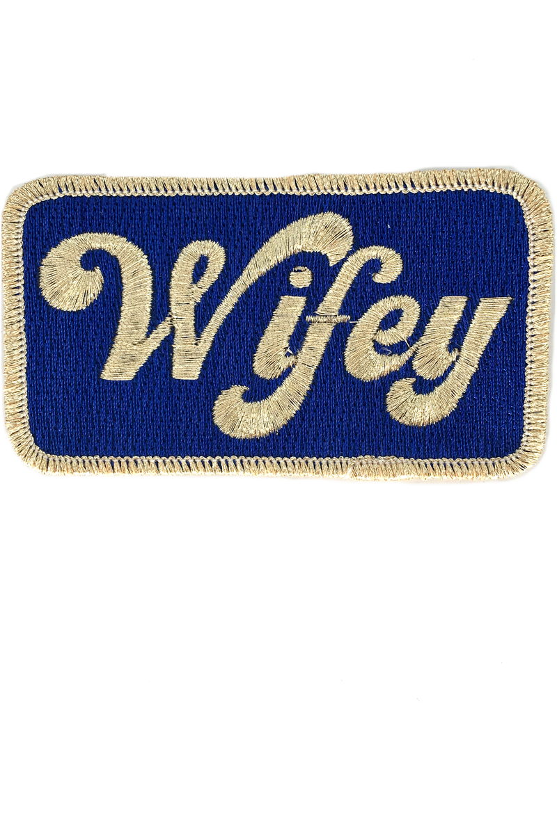JUDITH MARCH METALLIC WIFEY PATCH - RED