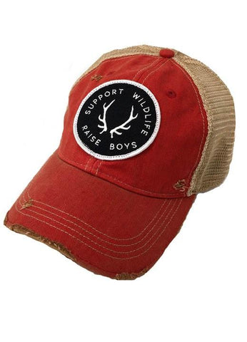 JUDITH MARCH SUPPORT WILDLIFE RAISE BOYS PATCH - RED HAT