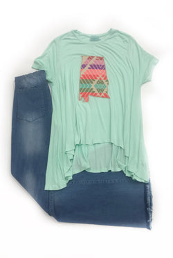 JUDITH MARCH MINT ALABAMA TEE