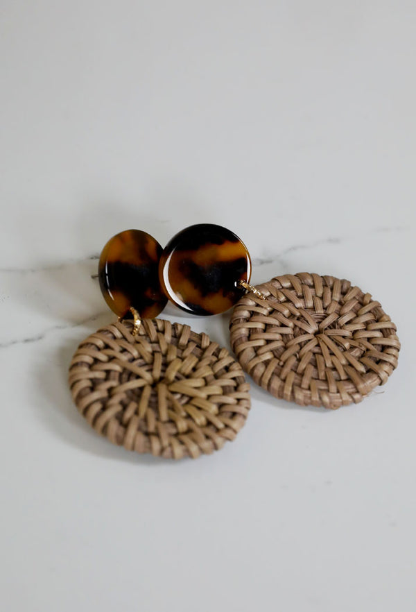 CIRCLE SHIELD EARRINGS