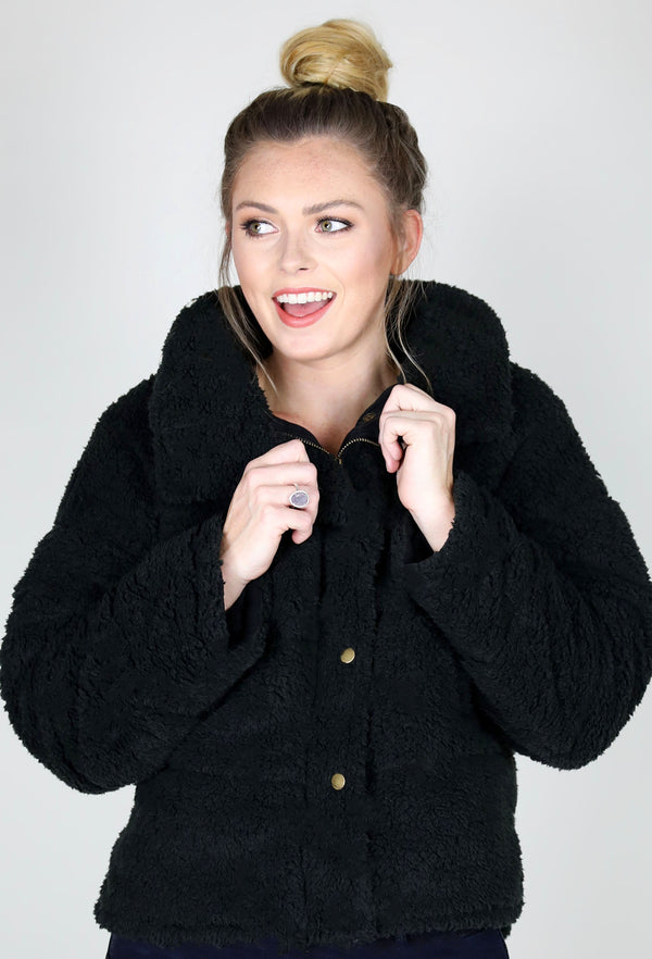 ALWAYS WARM JACKET - BLACK