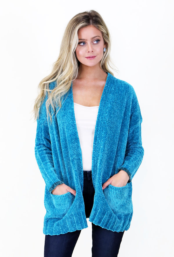 Bright Blue Cardigan
