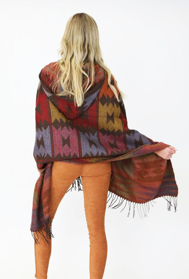LEGENDS OF THE FALL PONCHO - BROWN