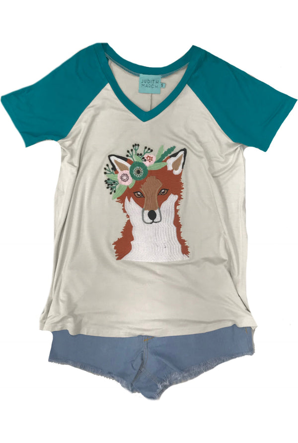 Judith March Fox Applique Judy Tee