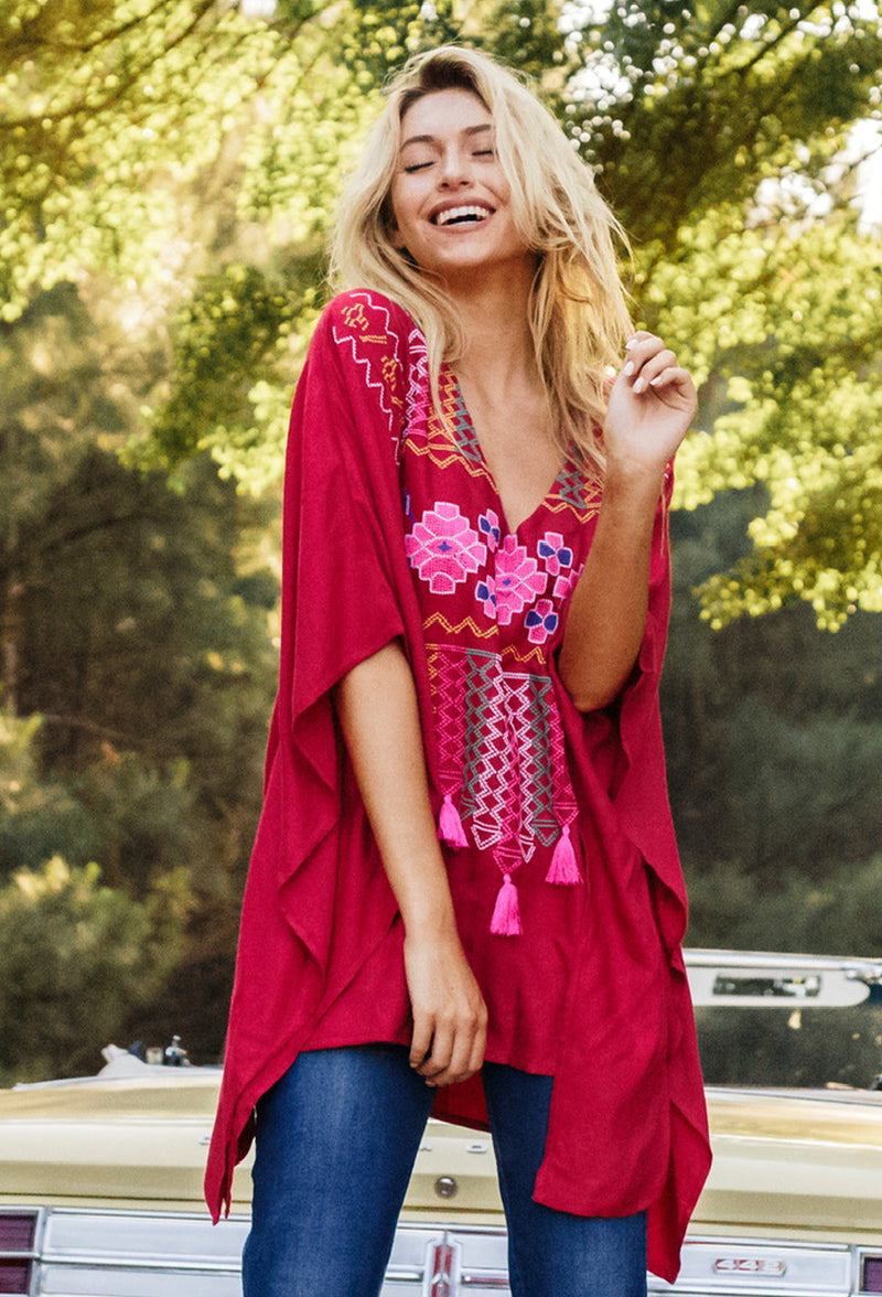 Gypsy Knot Embroidered Tunic