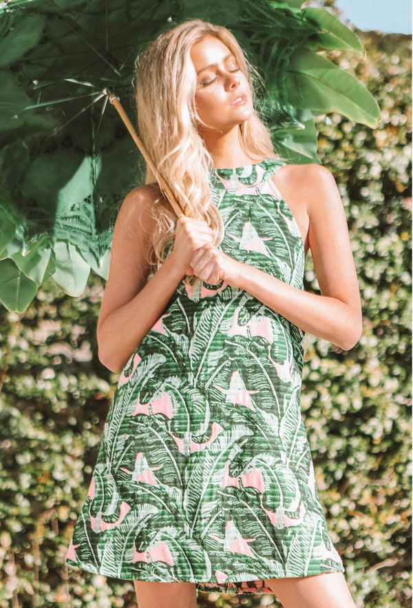Troop Palm Springs High Neck Shift Dres