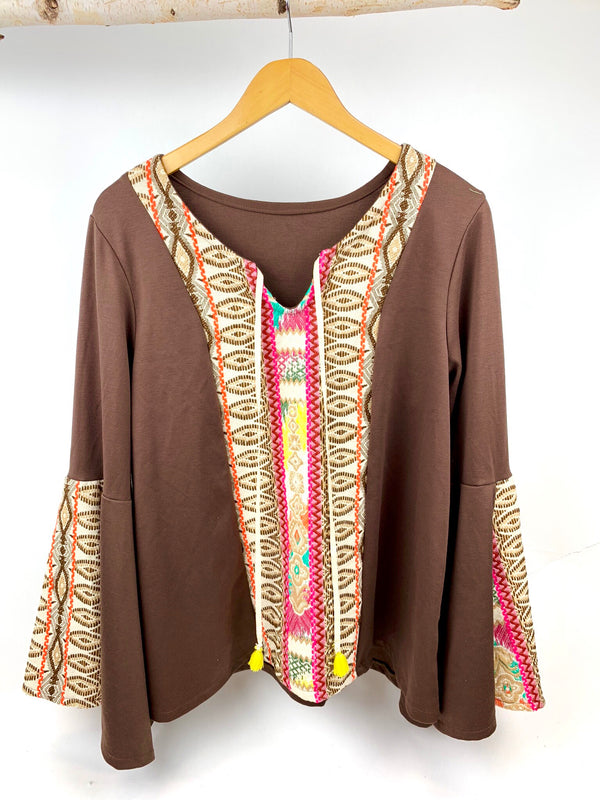 JUDITH MARCH AZTEC TOP