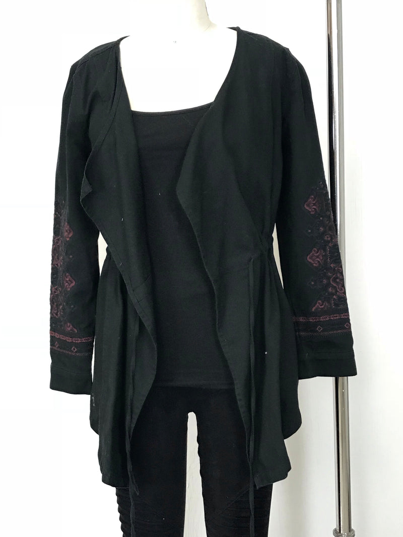Black Jacket with Purple Detail
