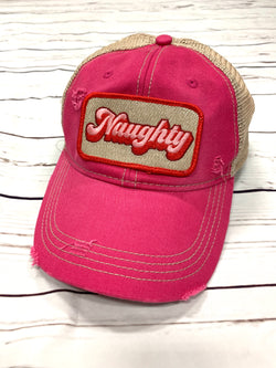 "JM HOLIDAY ""NAUGHTY"" HAT"