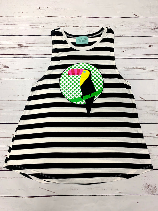TROPICAL STRIPE TANK WITH TUCAN