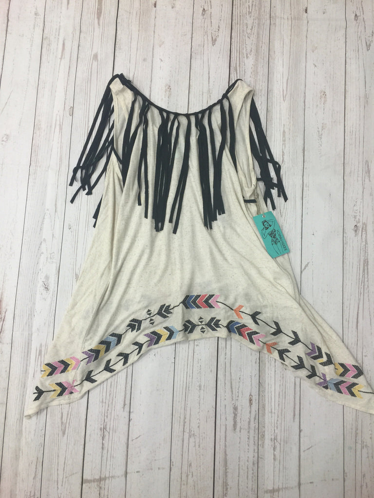 Judith March tassel trim top