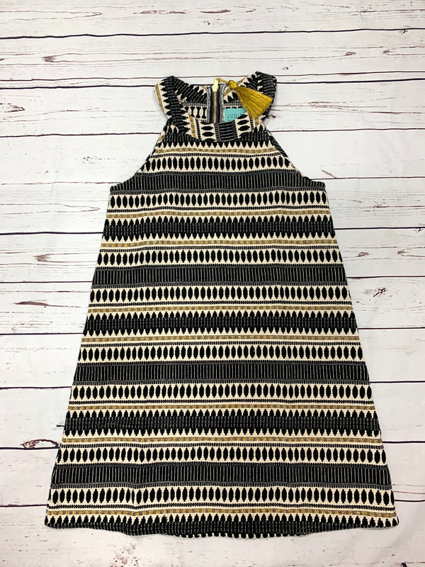 JUDITH MARCH HIGH NECK BLACK/GOLD DETAILED DRESS