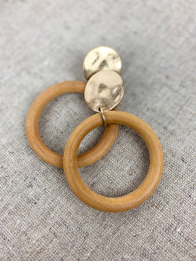 GOLD + WOOD HOOPS