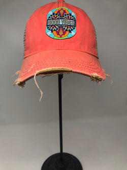 GOOD VIBES JUDITH MARCH HAT- CORAL
