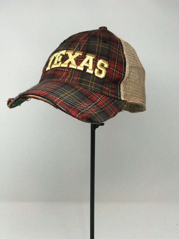 GOLD TEXAS- PLAID