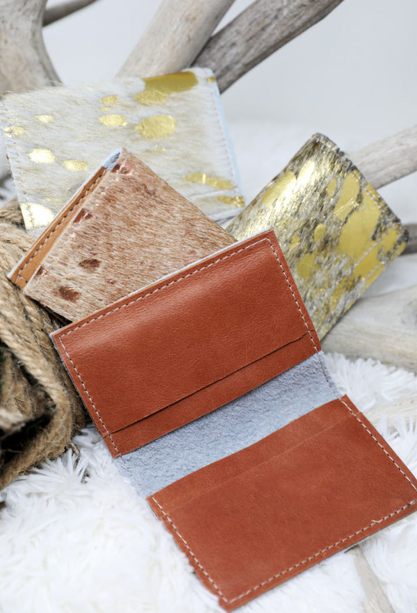 ANIMAL SKIN CARD HOLDERS