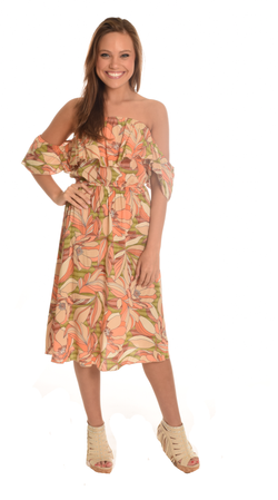 Melon Tube Off The Shoulder Dress
