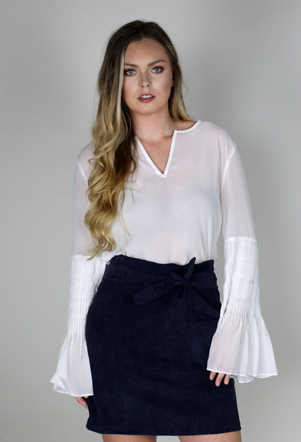 CORDUROY SKIRT - NAVY