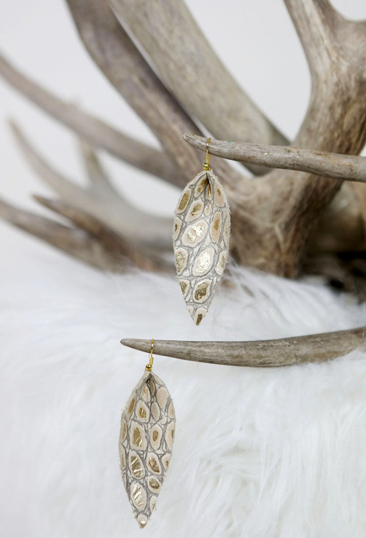 Animal Skin Earrings