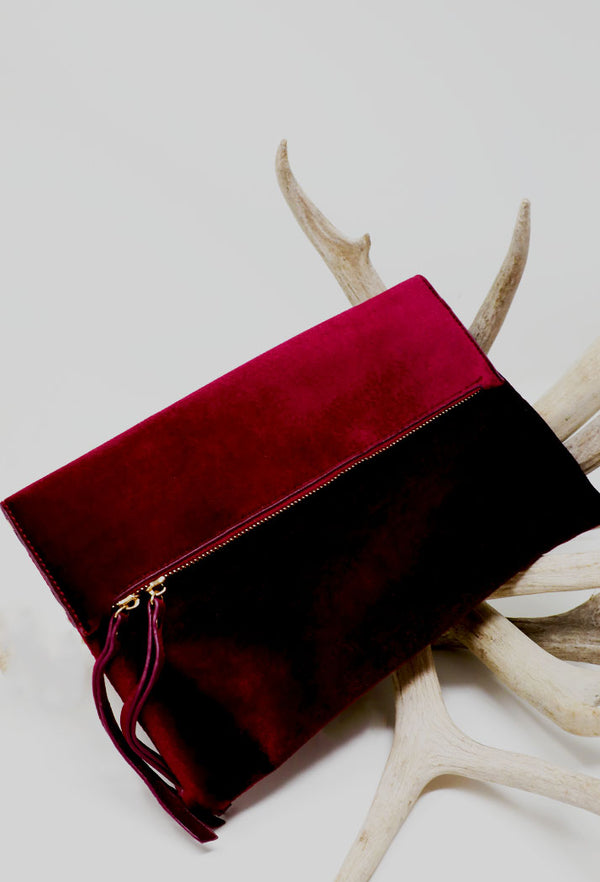 RED VELVET CRUSH CLUTCH