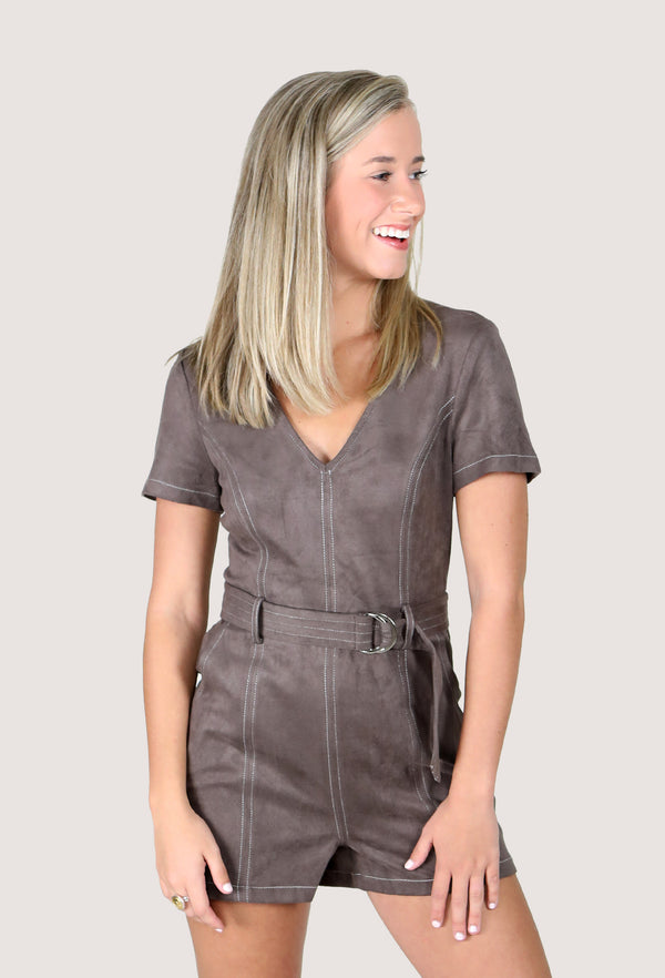PERFECT FALL ROMPER - GREY