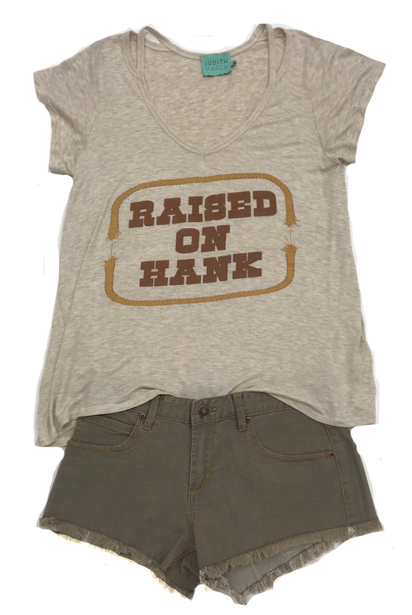 "Judith March ""Raised On Hank"" Short Sleeve Tee"