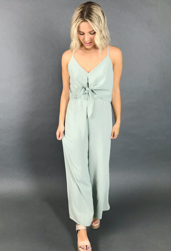 SEAFOAM GREEN JUMPSUIT