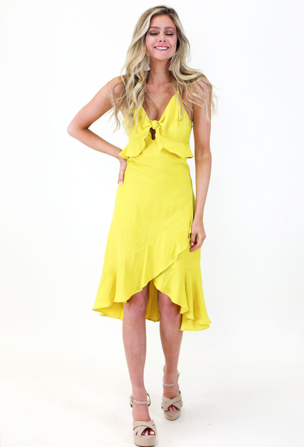Hello Sunshine Long Flounce Dress
