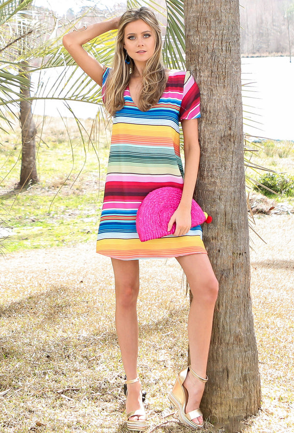 JUDITH MARCH STRIPED DRESS