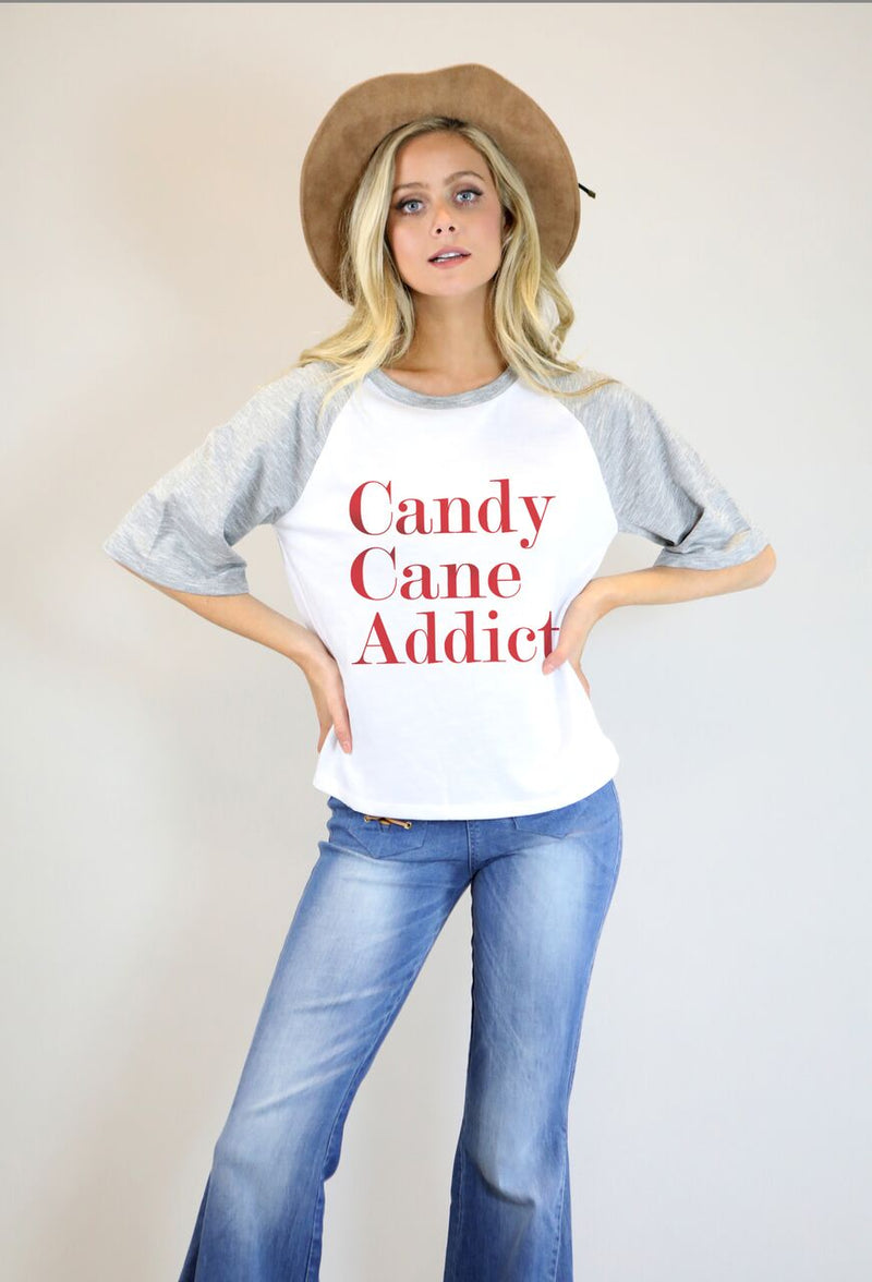 Candy Cane Addict Tee